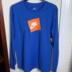 Mens Nike Longsleeve Athletic Cut Tee
